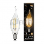 Gauss Лампа Gauss LED Filament Candle tailed E14 9W 2700K