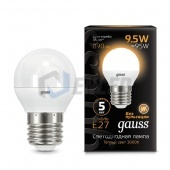 Gauss Лампа Gauss LED Globe E27 9.5W 2700K