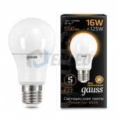 Gauss Лампа Gauss LED A60 E27 16W 2700K