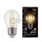 Gauss Лампа Gauss LED Filament Globe E27 9W 2700K