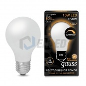 Gauss Лампа диммируемая Gauss LED Filament A60 OPAL dimmable E27 10W 2700К