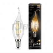 Gauss Лампа Gauss LED Filament Candle tailed E14 7W 2700К