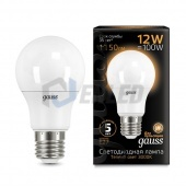 Gauss Лампа Gauss LED A60 12W E27 3000K