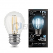 Gauss Лампа Gauss LED Filament Globe E27 11W 4100K