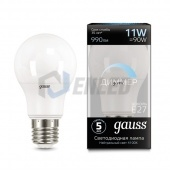 Gauss Лампа диммируемая Gauss LED A60-dim E27 11W 4100К