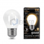 Gauss Лампа Gauss LED Filament Globe OPAL E27 5W 2700K