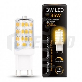 цоколь G9 Gauss Gauss LED G9 3W-dim (2700K) 3Вт